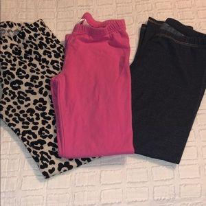 3 pairs girls size 7 leggings